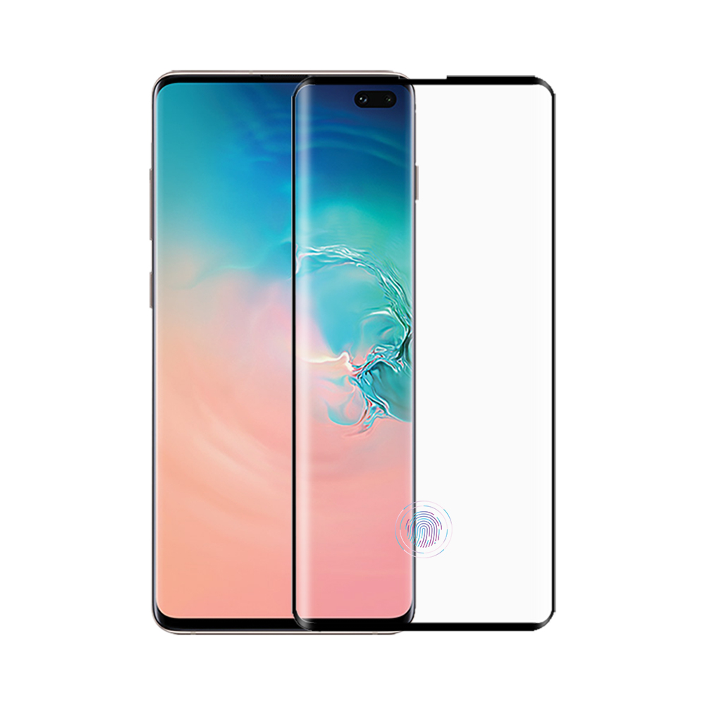 Hot selling s10 full cover 0.26mm 9H tempered glass for samsung s10 plus