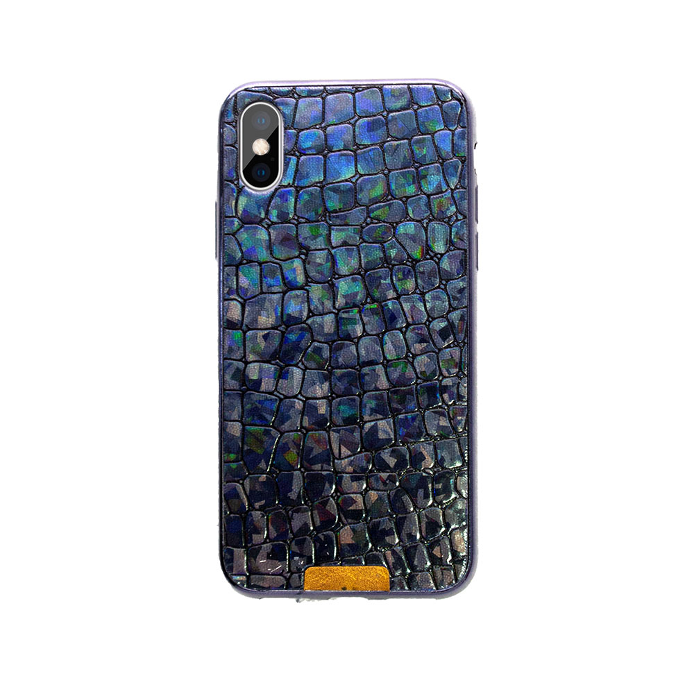 Electroplating leather phone case aurora PU cover for Galaxy